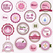 Set of cosmetic badges, labels and stickers — Stock Vector