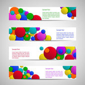 Flyers with colored circles — Stock Vector