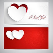Postcards with hearts — Stock Vector