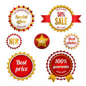 Set of sale badges, labels and stickers — Stock Vector
