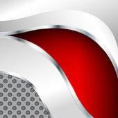 абстрактный металлический фон с красной элемент — Cтоковый вектор
