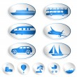 Travel labels, logos and stickers — Stock Vector #22993062