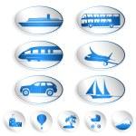 viajes etiquetas, logotipos y pegatinas — Vector de stock