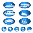 Travel labels, logos and stickers — Vector de stock