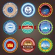 Travel labels, badges and stickers — 图库矢量图片 #23565325