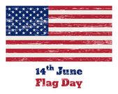 сша флаг винтаж 14 июня — Cтоковый вектор