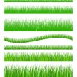 Set of seamless grass — Stock Vector