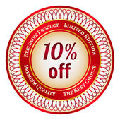Label on 10 percent discount — Stock Vector