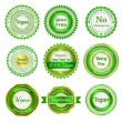 Organic labels, badges and stickers — Stock Vector #25012237