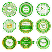 Organic labels, badges and stickers — Stock Vector