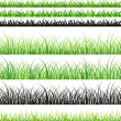 Seamless grass set — Stock Vector