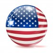 Flag of the United States in the form of ball — Stock Vector