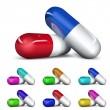 Set of capsules — Stock Vector #30959329