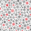 Stock Vector: Christmas seamless pattern from snowflakes