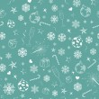 Seamless pattern from christmas symbols — Stock Vector #32353495