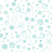 Seamless pattern from christmas symbols — Stock Vector