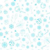 Naadloze patroon van kerst symbolen — Stockvector