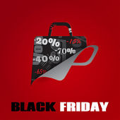 Background on Black Friday — Stock Vector
