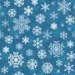 Christmas seamless pattern from snowflakes — Stock Vector #33169361