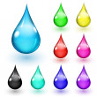 Multicolored drops — Stock Vector #34250717