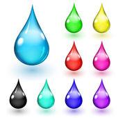 Multicolored drops — Stock Vector