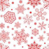 Noel seamless modeli üzerinden kar taneleri — Stok Vektör