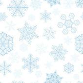 圣诞无缝模式与大、 小雪花 — 图库矢量图片