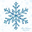 Stock Vector: Snowflake made of beads