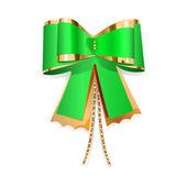 Arco verde y oro — Vector de stock