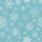 рождество бесшовный паттерн с больших и маленьких снежинок — Cтоковый вектор