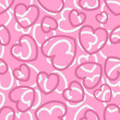 Seamless pattern with hearts on pink — Stock Vector