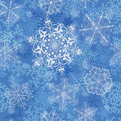 Christmas seamless pattern with snowflakes — Stock Vector