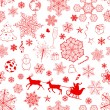 Christmas seamless red pattern — Stock Vector