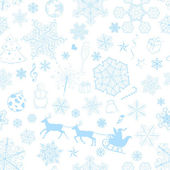Christmas seamless light blue pattern — ストックベクタ