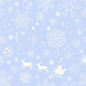 Christmas seamless violet pattern — Vector de stock