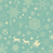 Christmas seamless retro pattern — Stok Vektör
