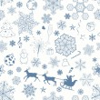 Christmas seamless dark blue pattern — Stock Vector