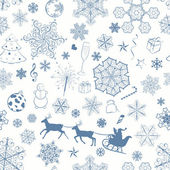 Christmas seamless dark blue pattern — Vetor de Stock