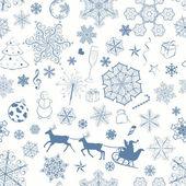 Christmas seamless dark blue pattern — Vettoriale Stock