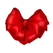 Red heart-shaped bow — 图库矢量图片