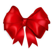 Red bow — Vector de stock