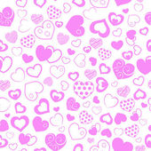Seamless pattern of hearts — Stok Vektör