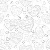 Seamless pattern of hearts — Cтоковый вектор