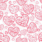 Seamless pattern of hearts — Stockvektor