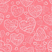 Seamless pattern of hearts — Vettoriale Stock
