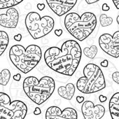 Seamless pattern of hearts — ストックベクタ