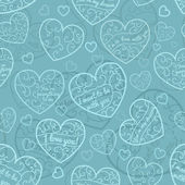 Seamless pattern of hearts — Stockvector