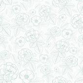 Seamless mönster av blommor — Stockvektor