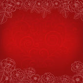 Background with roses and heart — Stock vektor