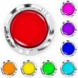 Set of big multicolored plastic buttons — Stock Vector #40679861